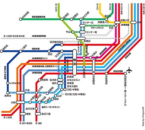路線図:横浜市内の路線図