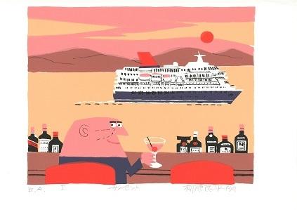 柳原良平アートミュージアム特集展示 「海を見ながら・・・」の画像
