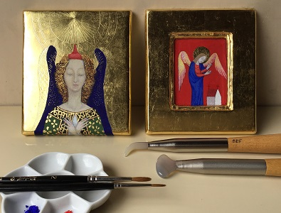 市民のためのプログラム 古典絵画技法 金箔装飾とテンペラ画の画像