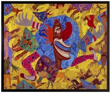 岡部文明2019展― 「ラグビー精神」で、愛と平和の象徴を描く―の画像