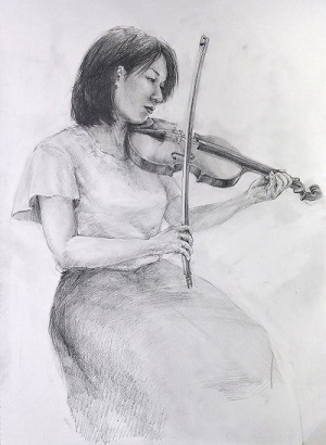 大人のためのアトリエ講座「音を奏でる人体を描く-クロッキーとデッサン-」の画像