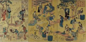 【開催中止】  シルク博物館所蔵品展「描かれた養蚕 -蚕織錦絵の世界-」の画像