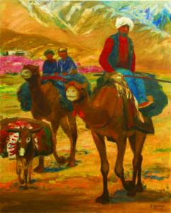 杏咲く頃ー絵筆と歩いたシルクロード 小間嘉幸絵画展の画像