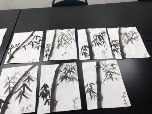 日本大好きプロジェクトによる伝統文化体験ワークショップ「水墨画」の画像