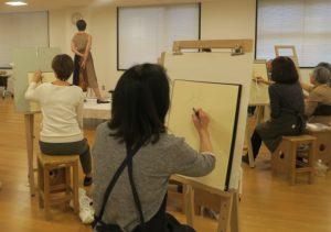 大人のためのアトリエ講座「オープンスタジオ・人体クロッキー(着衣)Bコース」の画像