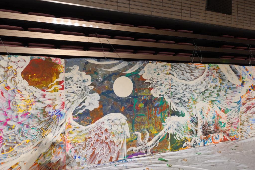 KENSUKE TAKAHASHI アートワークショップ2020「14m×1.8m」の巨大作品展@よこはま動物園ズーラシアの画像