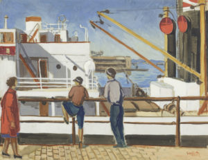 横浜市民ギャラリーコレクション展2021 うつし、描かれた港と水辺の画像