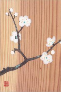 日本画体験と横浜能楽堂見学の画像